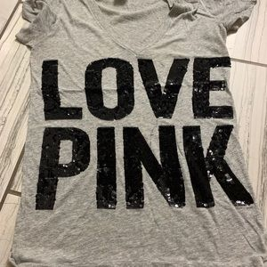 Pink VS sequence shirt